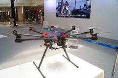 Unmanned aircraft exhibition sales Royalty Free Stock Image