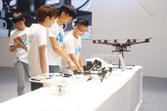 Unmanned aircraft exhibition sales Stock Photography