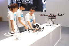 Unmanned aircraft exhibition sales Royalty Free Stock Photography