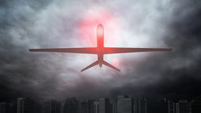 An unmanned drone. Automated surveillance concept stock photography