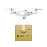 Unmanned Drone With Box Stock Photo