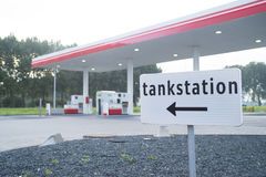 Unmanned gas station Royalty Free Stock Photography