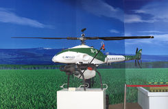 Unmanned helicopter. 2012 Chinese agricultural unmanned helicopter Stock Images