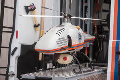 Unmanned helicopter, radiation Royalty Free Stock Image