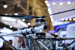 Unmanned reconnaissance aircraft at the exhibition Stock Photos
