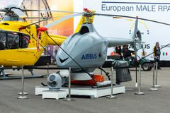 An unmanned reconnaissance helicopter Airbus VSR700. Stock Image