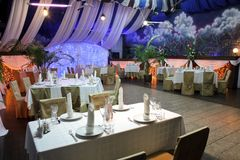 Unmanned restaurant interior Stock Image