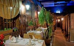 Unmanned restaurant interior Stock Photo