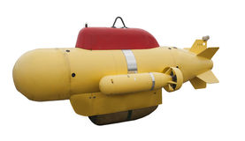Unmanned submarine. An unmanned submarine on a white background royalty free stock photo