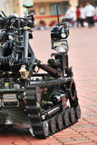 Unmanned Vehicle. An unmanned Ground Vehicle (UGV) with wheels and tracks royalty free stock photography
