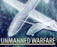 Unmanned warfare Abstract concept digital illustration Royalty Free Stock Images