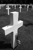 Unmared grate at Omaha. Unmarked grave at Omaha beach in Normandy Stock Photos
