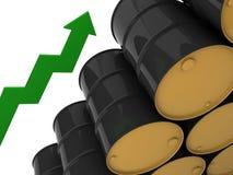 Unmarked black barrels Royalty Free Stock Photo