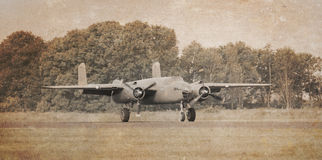 Unmarked bomber, vintage effect Stock Images