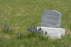 Unmarked gravestone Royalty Free Stock Images