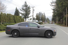 Unmarked Police Cruiser and Incident Royalty Free Stock Photo