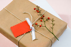 Unmarked christmas presents Stock Photography