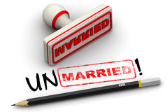 Unmarried! Corrected seal impression Stock Photo