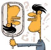 Unmögliche Spiegelreflexion Stockbild