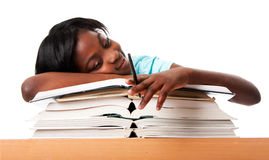 Unmotivated student stock photography