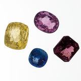 unmounted gemstones arkivbild