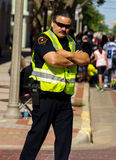 Unmovable police officer Royalty Free Stock Photo