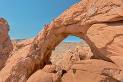 Unnamed Arch, Valley of Fire State Park, NV Stock Photo