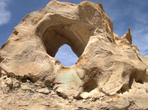 Unnamed Cerritos Canyon Sandstone Arch. Unnamed Sandstone Arch in Cerritos Canyon near Aztec, New Mexico Stock Image
