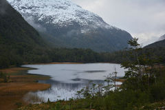 Unnamed lake, Chilean Patagonia Royalty Free Stock Photography