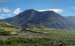 Unnamed peak in Khibiny Mountains, Kola Peninsula Stock Images