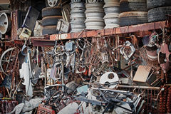 Unnecessary metal trash dump Stock Images