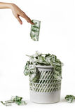 Unnecessary money Royalty Free Stock Image
