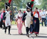 Unniversary slag van Borodino 200 de jaar Stock Foto's