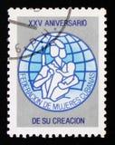 25 unniversary von der Vereinigung von Frauen von Kuba, circa 1985 Lizenzfreies Stockfoto