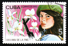 25 unniversary von der Vereinigung von Frauen von Kuba, circa 1985 Lizenzfreie Stockfotos