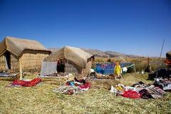 Uno海岛,普诺,秘鲁 免版税库存照片