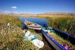 Uno海岛,普诺,秘鲁 库存图片