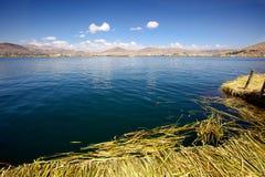 Uno海岛,普诺,秘鲁 免版税图库摄影
