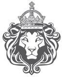 Testa araldica del leone Immagine Stock