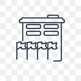 UNO Building vector icon isolated on transparent background, lin royalty free illustration