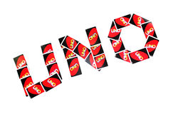 Uno card Royalty Free Stock Image