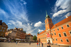 Uno città di Varsavia della via di vecchia (sguardo fisso Miasto) è il più vecchio distretto storico di Varsavia (XIII secolo) Immagine Stock Libera da Diritti