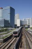 UNO city in Vienna with subway Stock Photos