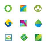Uno con el gran icono del logotipo del descenso del agua de la lona de arte de la naturaleza stock de ilustración