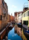 Uno de canales de Venecia, Italia Imagen de archivo libre de regalías