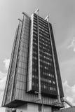 Uno de dos rascacielos de Stalexport Foto de archivo