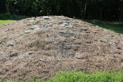 Uno de la reproducción del montón de la piedra de la piedra caliza en el fuerte antiguo fotos de archivo
