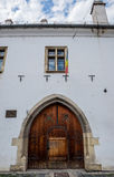 Uno de los edificios más viejos de Cluj-Napoca Imágenes de archivo libres de regalías