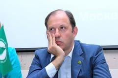 Uno de los líderes del Partido Verde ruso Imagen de archivo libre de regalías