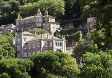 Uno de los muchos palacios en Sintra Portugal Imagen de archivo libre de regalías
